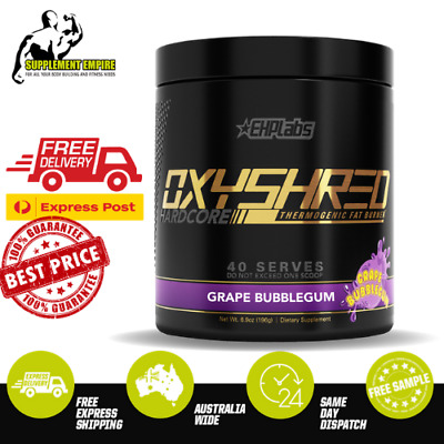 EHP Labs Oxyshred Hardcore Fat Burner Thermogenic Fat Loss EHPLabs GRAPE
