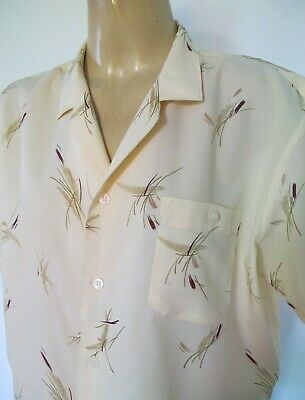 SHIRT Short sleeve 1990s does 50s Vintage Print Sz  L-XL Casual Hipster Retro