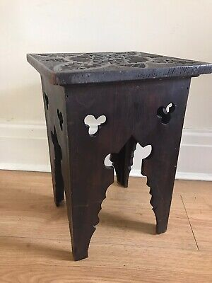 Antique Wooden Carved Stool