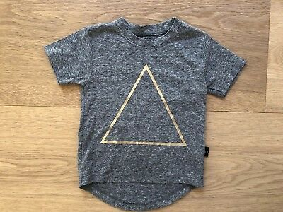 Huxbaby Unisex Gold Triangle Short Sleeve Top Size 1 NWOT