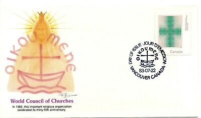 CANADA  1983  FDC- 35th ANN. WORLD COUNCIL OF CHURCHES - A FLEETWOOD