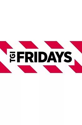 50$ TGI Fridays Gift Card - 30%OFF (EMAIL DELIVERY/PHYSICAL DELIVERY ONLY) 2x25