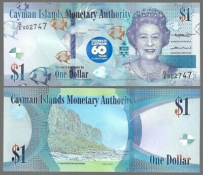 Cayman Islands $1 (2018 / 2020 ) Commemorative 60Th Anniv. Of Constitution