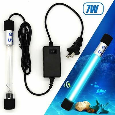Aquarium UV Sterilizer 7W Lamp Fish Tank Clarifier Submersible Ultraviolet Light