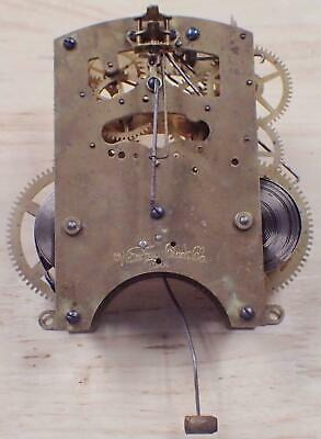 Antique Waterbury 8-Day Time And Strike Front Mounting Clock Movement 4 Parts