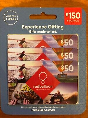 Red Balloon Gift Cards $150 Expires 18/4/22. Free Postage With Tracking.