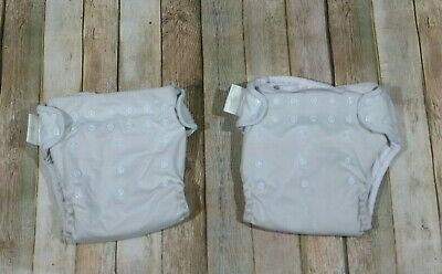 Lot of 2 BumGenius 4.0 Pocket Cloth Diapers Snaps Light Green Inserts Unisex