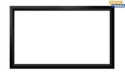 100 Inch Black Velour Projector Projection Fixed Frame Screen - Aust Stock