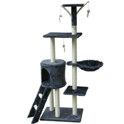 """54"""" Cat Tree/Condo, Scratching Post - Grey/Pewter"""