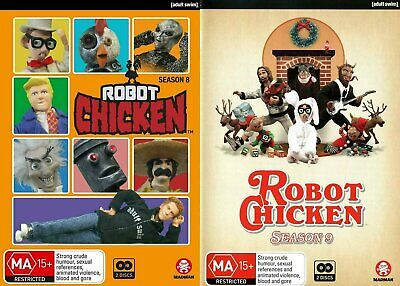 ROBOT CHICKEN Season 8 + 9 (Region Free) DVD The Complete Series Eight & Nine