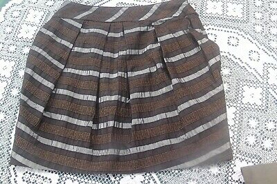 Cue Made In Aust From Italian Wool Blend Fabric Ladies Skirt New No Tags Sz : 12