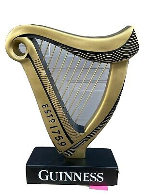 """HUGE Guinness Beer Harp Store Promotional Display Sign  34"""" Tall x 21"""" Wide"""