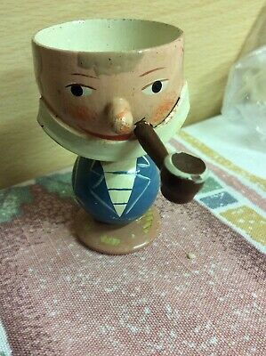 Vintage 1960's Retro Cute Old Man Easter Egg Cup