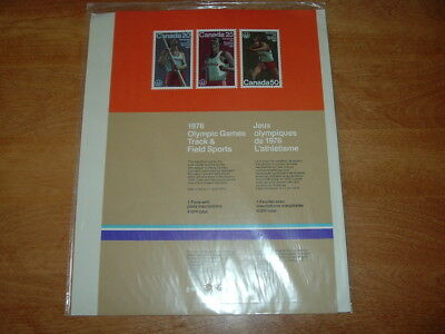 canada  1976 olympic games complete sheet in special sealed envelope canada post