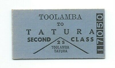 TOOLAMBA - TATURA 2nd Class Single Ticket