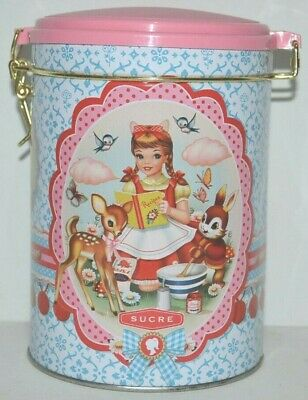 Cotton Candy Chronicles Sugar Biscuit Lolly Tin Cylinder 16cm Vintage Style 2013