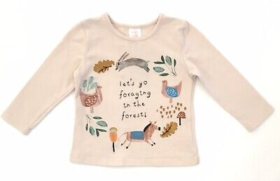 OLLIE'S PLACE Size 1 baby Girls Long Sleeved T-shirt Embroidered Top 12-18 Mths