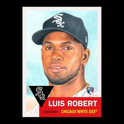 2020 Topps Living Set 297 Luis Robert RC Chicago White Sox Great Art!