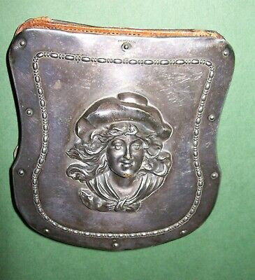Antique Victorian Ladies Silver Plate Wallet Small Clutch Purse