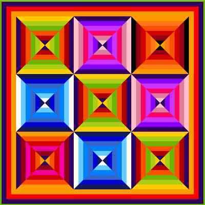 """HUBBA HUBBA - 64"""" - Pre-cut Quilt Kit by Quilt-Addicts Double size"""