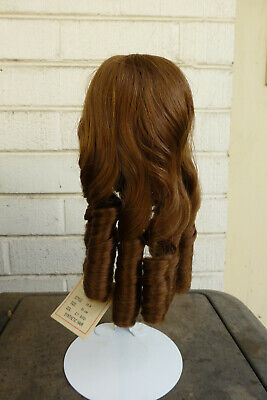 doll wig, red-brown, 1 of 2