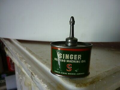 SINGER [Sewing Machine Oil ]1 1/2 oz Oil Can ] LEAD TOP