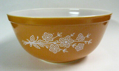 """Vintage Pyrex Oven Glass """"Butterfly Gold"""" Mixing Bowl #403 of Set, PRICE SLASHED"""
