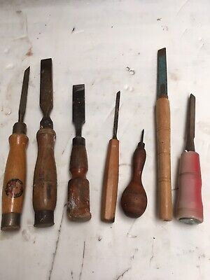 7 X Old Chisels