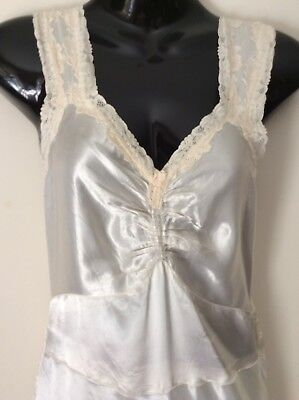 Vintage Original 40's Liquid Satin Slip/ Dress Size (10)