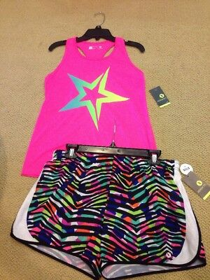 Xersion Nwt Girls Xl 16 Gym Yoga Sports Dance Tank Short Set Lot