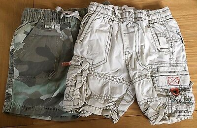 Two Pairs Of Boys Next Shorts Size 9-12 Months