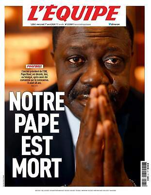 Journal l'Equipe 01 avril 2020 - Hommage Pape Diouf Mort - OM - Marseille - Neuf