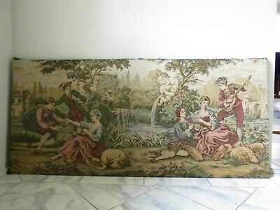 Vintage, large, beautiful French tapestry