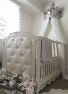 Pottery Barn Kids Blythe Convertible Cot Toddler Bed French White