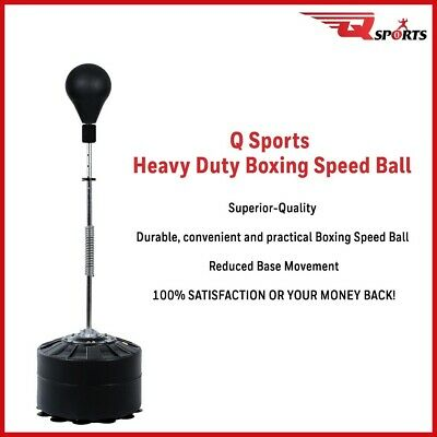 Q Sports Freestanding Adjustable Boxing Gym Training SpeedBall Punching Ball MMA