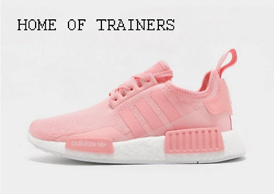 adidas Originals NMD_R1 Pink White Kids Boys Girls Trainers All Sizes