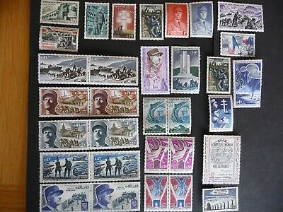 FRANCE stamps- AT WAR - x36 - mixture of MH & used