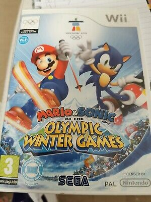 Nintendo Wii Mario & Sonic Winter Olympic Games Excellent Condition