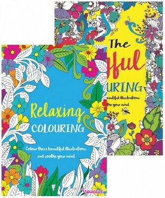 MIND RELAXING COLOURING BOOK BOOKS Kids - Adult Stress Relief Colour Therapy