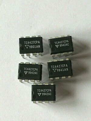 Gate and power drivers TC4427CPA 8 pin dip by micro technology 5pc 4.25 HU664
