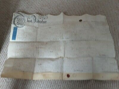 **** 1719 Vellum Indenture *****Very Clean *****