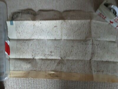 **** 1709 Vellum Indenture *****Very Clean *****