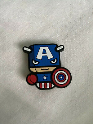 Crocs Jitbit Shoe Charm Captain America Blue
