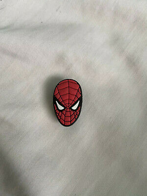 Crocs Jitbit Shoe Charm Spider-Man Red Character Face