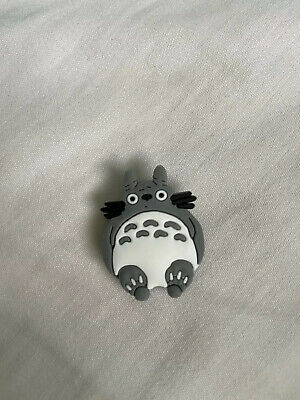 Crocs Jitbit Shoe Charm Grey And White Animal Character