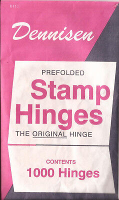 W  3 Packs of Dennisen brand folded stamp hinges -1000 per package-new-Free Ship