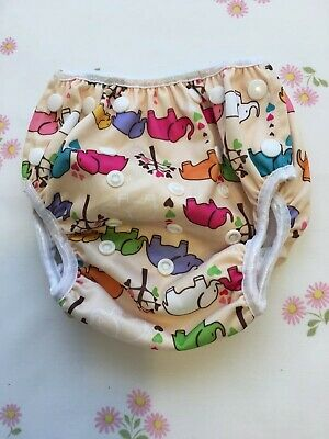 BABY Swim Diaper Reuseable Washable Pool Cloth Pant Waterproof Cover SNAP
