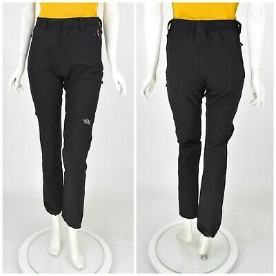 Womens The North Face Outdoor Hiking Trousers Pants Black Slim Active Size S