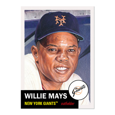 2020 Topps Living Set 300 Willie Mays San Francisco Giants Great Art!