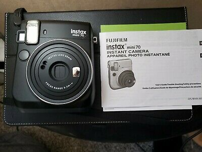 Fujifilm Instax Mini 70 Instant Film Camera (MIDNIGHT BLACK )USED ONCE